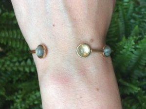 Pao bracelet grey/gold