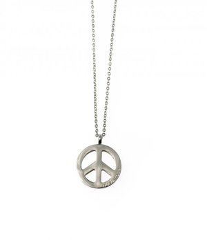 Peace steel necklace