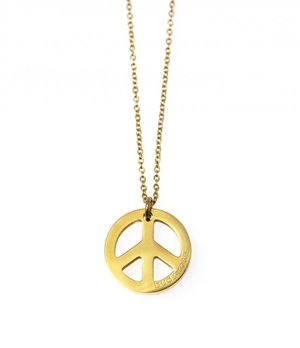 Peace gold necklace