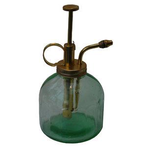 Blomspruta Grönt glas/mässing
