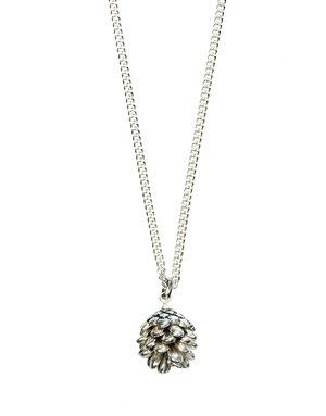 Halsband Tallkotte Silver 80 cm