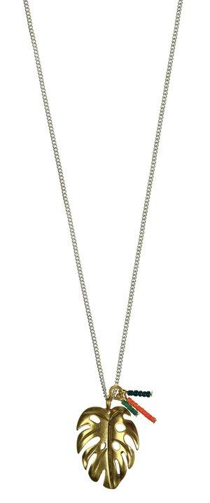 Halsband Monsterablad guld 42 cm
