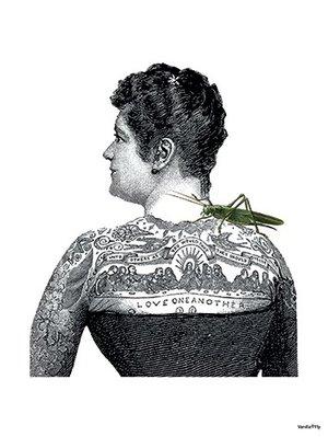 Tattooed lady 30x40