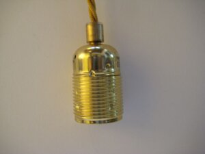 Guld sladd mässingsfattning E27