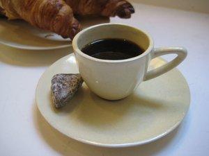 Espressokopp med fat Crème