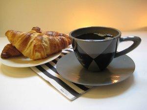 Cappuccinokopp med fat Harlekin grå