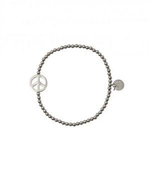 Peace steel bracelet