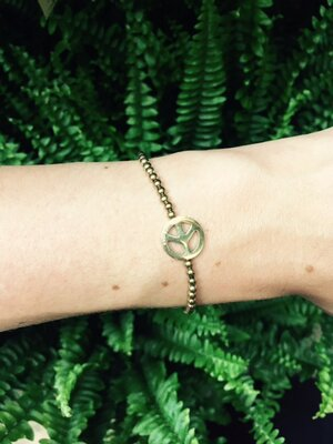 Peace gold bracelet